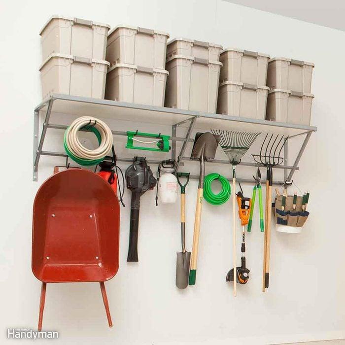monkey bar garage organizer