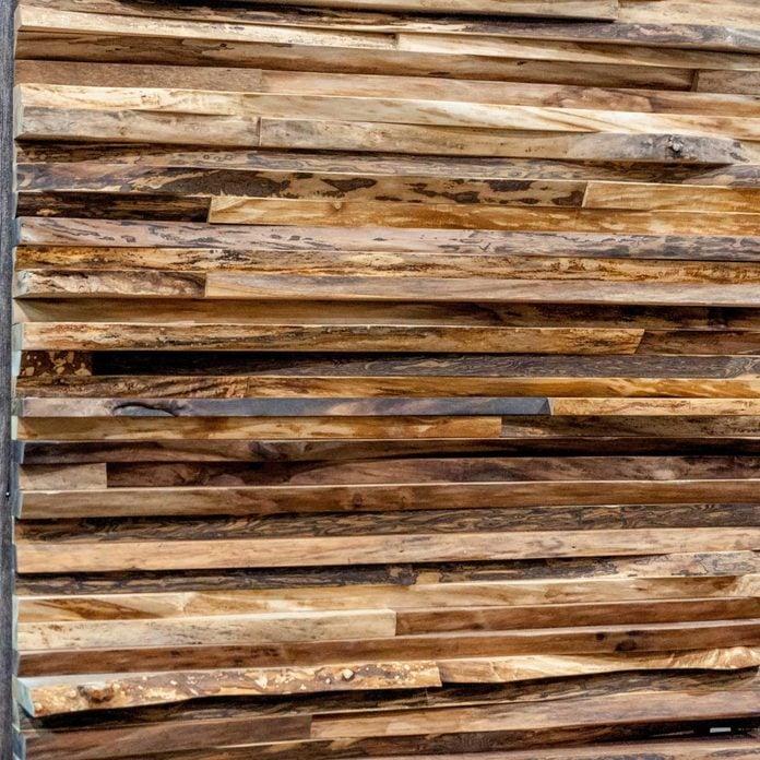 wood edge wall