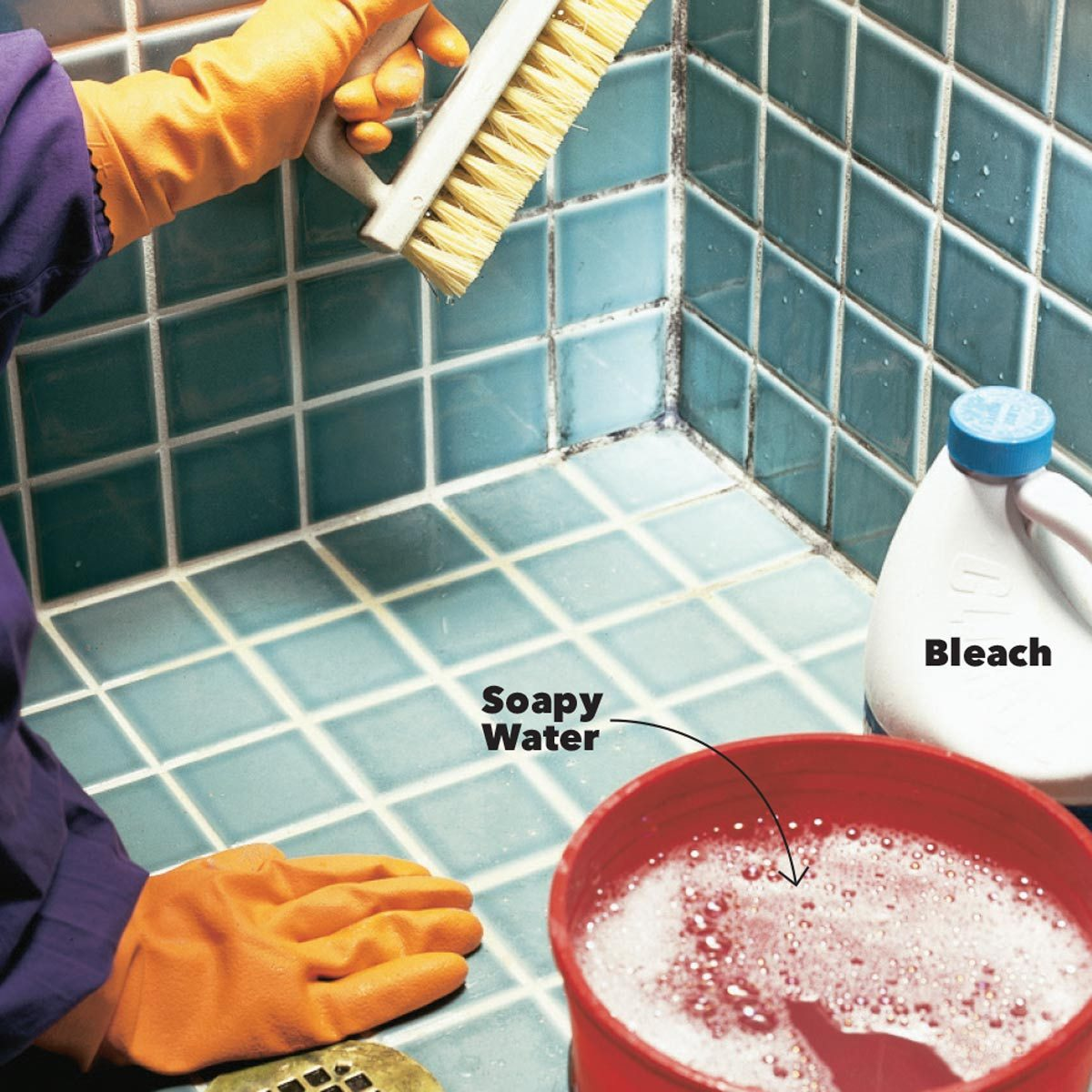 cleaning mold with bleach