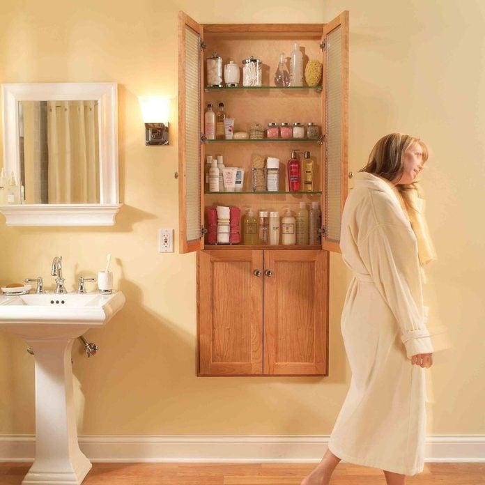 bathroom storage cabinet after