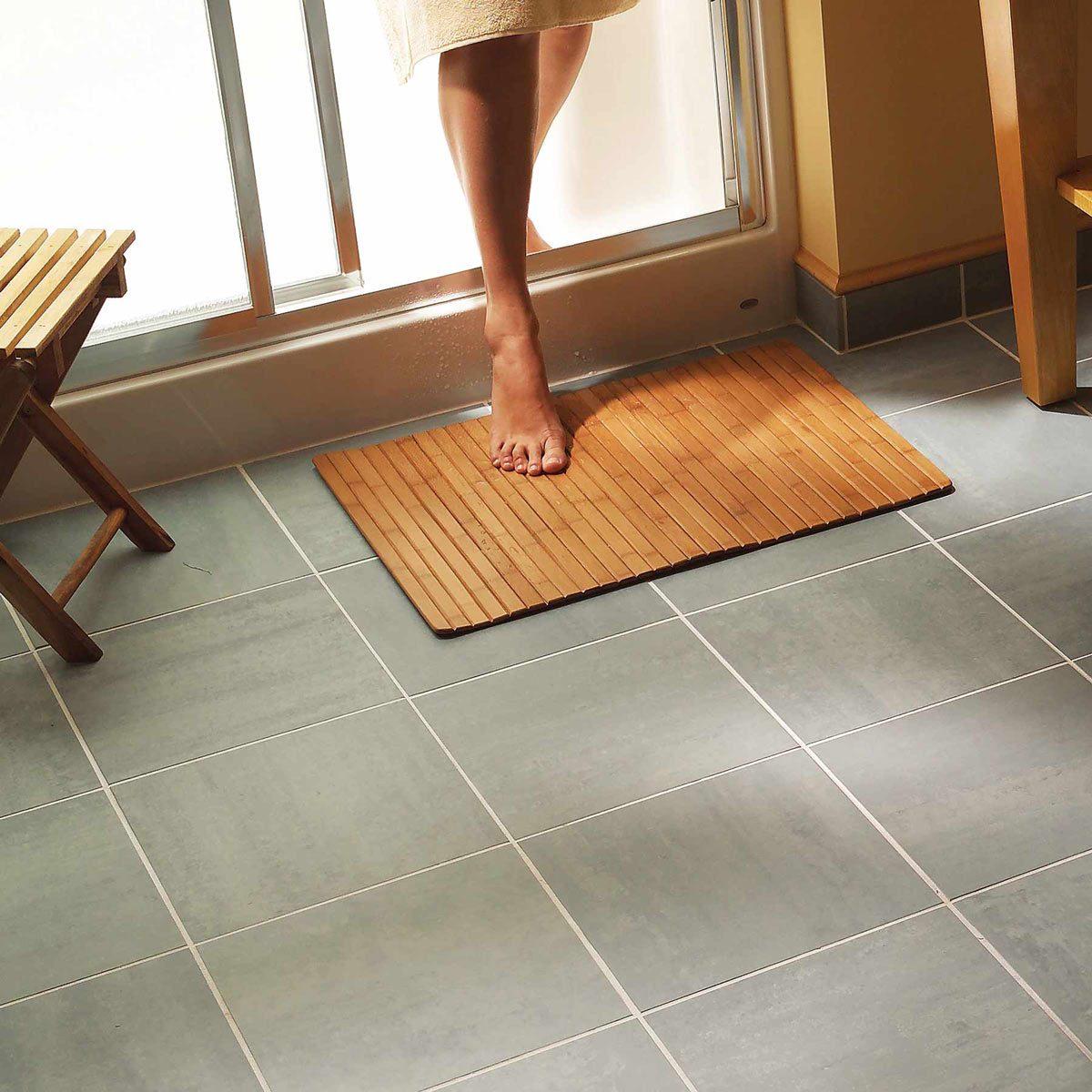 bathroom tile floor after