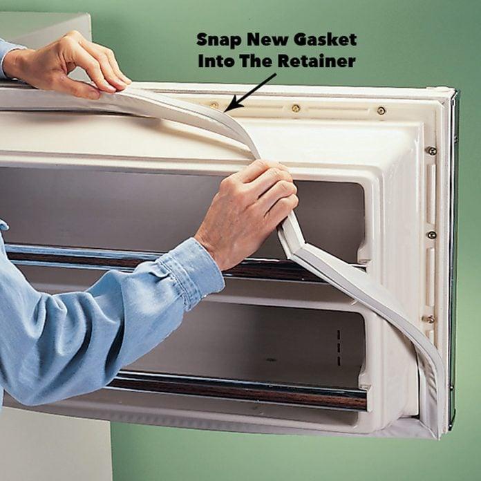 install new refrigerator door gasket freezer seal freezer gasket
