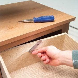 Hidden Drawer Stop