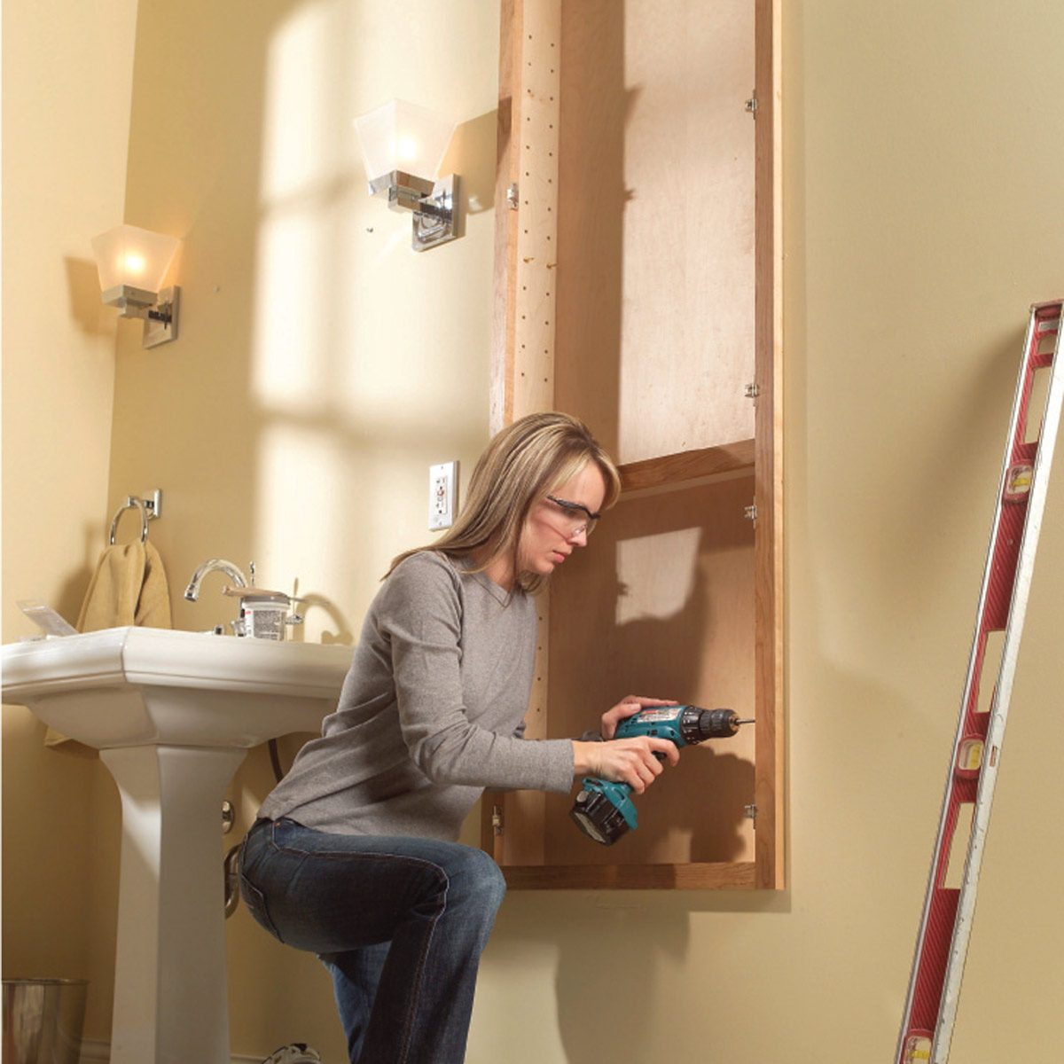How To Build A Built In Bath Cabinet Diy Family Handyman