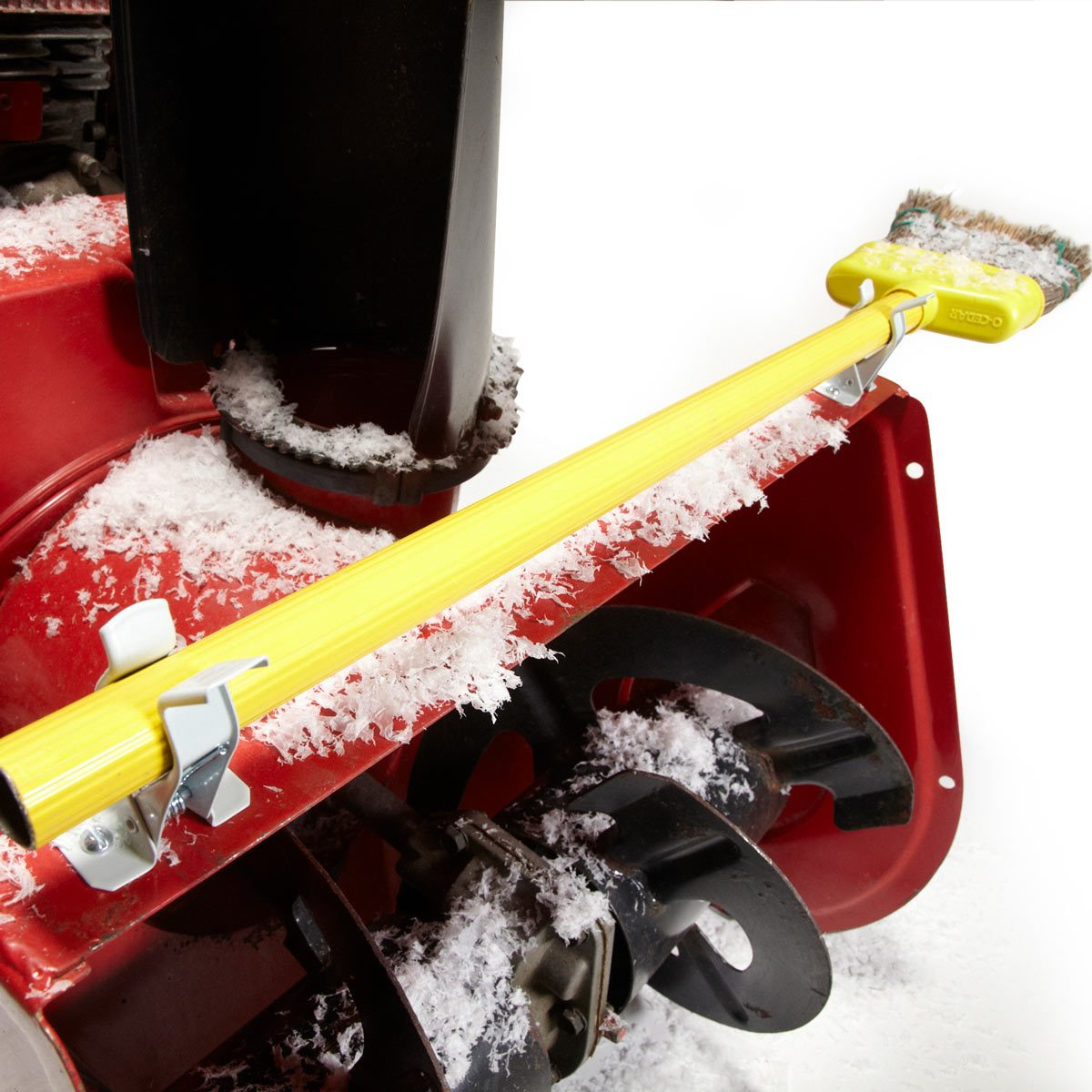 diy snow blower chute sweeper | the family handyman