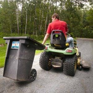 Easy-on-the-Back Trash Can Hauler