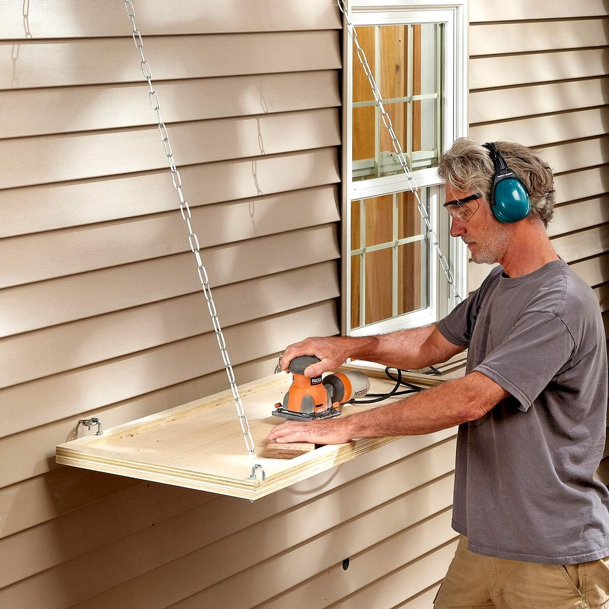 outdoor sanding station   the family handyman