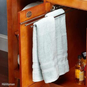 Clever Tricks for Bathroom Towel Storage