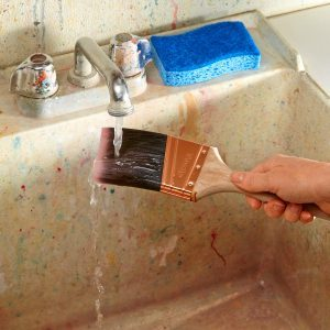 Why You Should Run a Paintbrush Under Water Before Painting