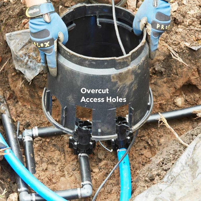 irrigation install valve box