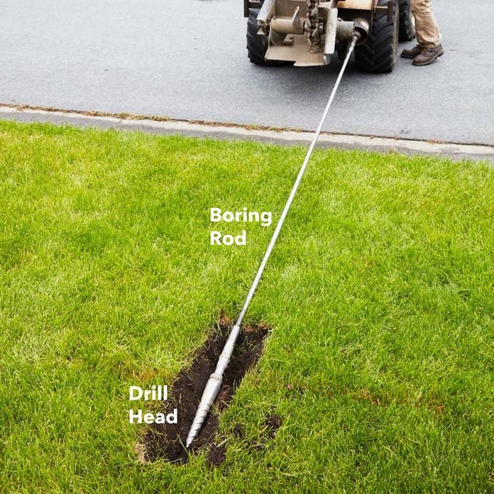 bore under obstructions install irrigation with a vibratory plow