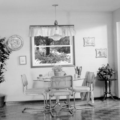 black and white kitchen before photo