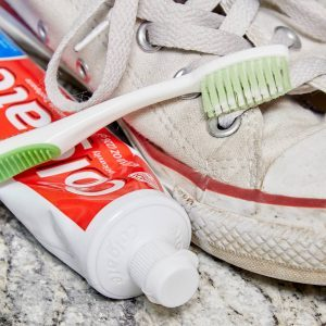 HH clean dirty sneakers with toothpaste how to clean shoes with toothbrush