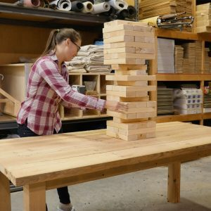 Giant Backyard Jenga Game