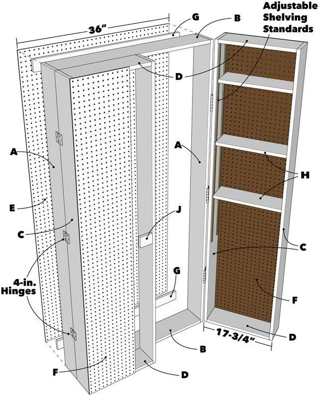 Lockable Storage Cabinet Tech Art