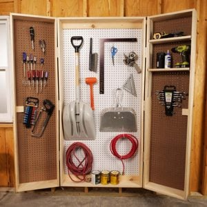 Saturday Morning Workshop: How To Build A Lockable Storage Cabinet