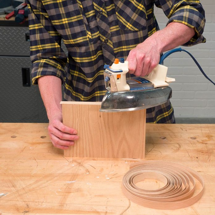 Sofa Arm Tray Table apply edge banding