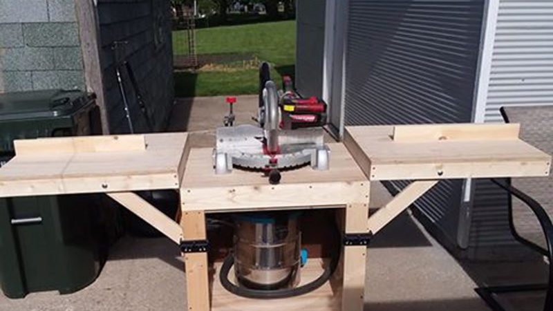 Reader Project Simple Diy Miter Saw Stand The Family