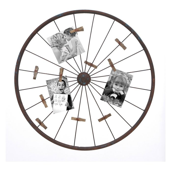 bike wheel picture frame