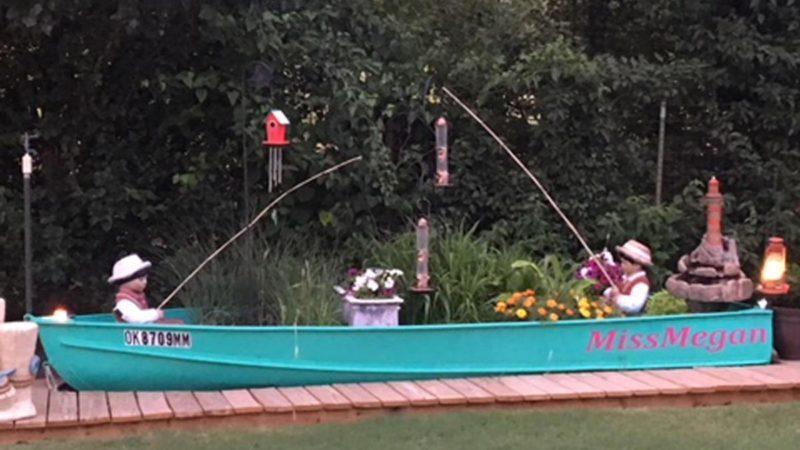 boat bird feeder