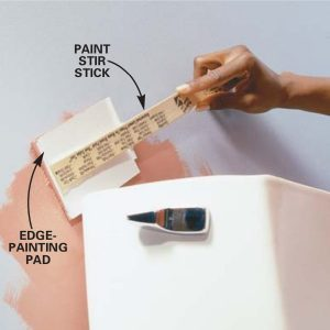 Brilliant Tip for Painting in Tight Quarters