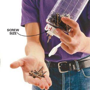 Brilliant Storage Idea for Screws