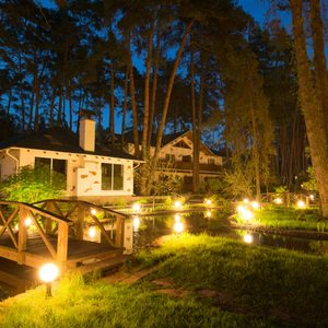 landscaping lighting at night