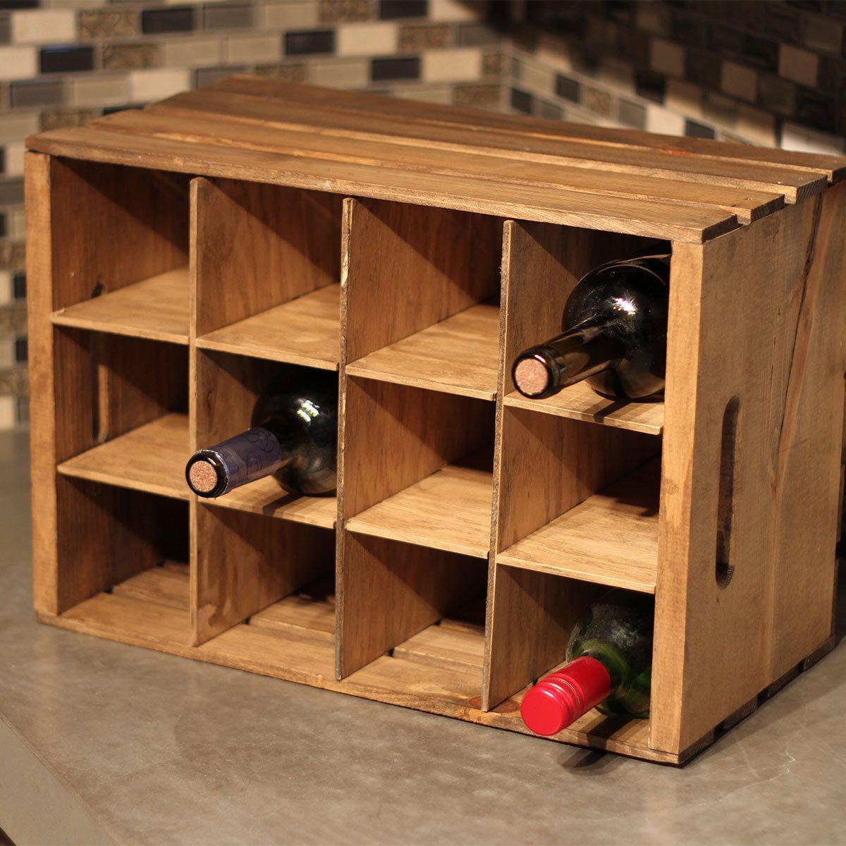 Super Simple Countertop Wine Rack Diy Family Handyman