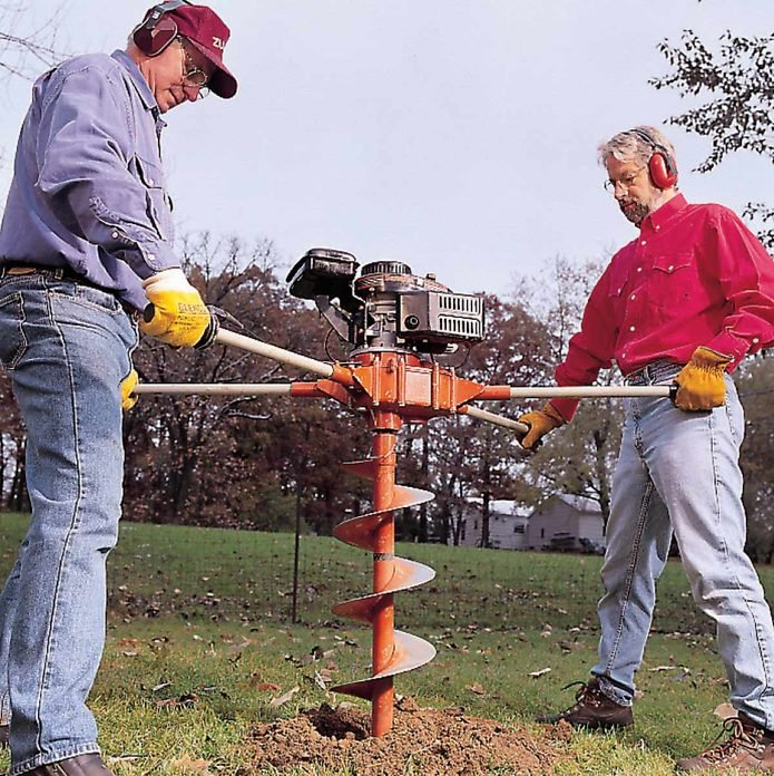posthole auger digging holes