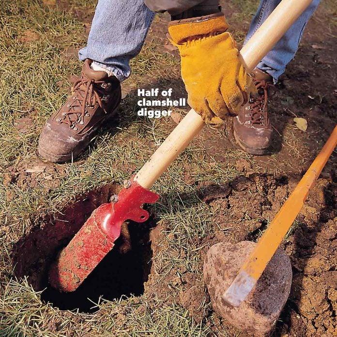 improvised shovel half of clamshell digger