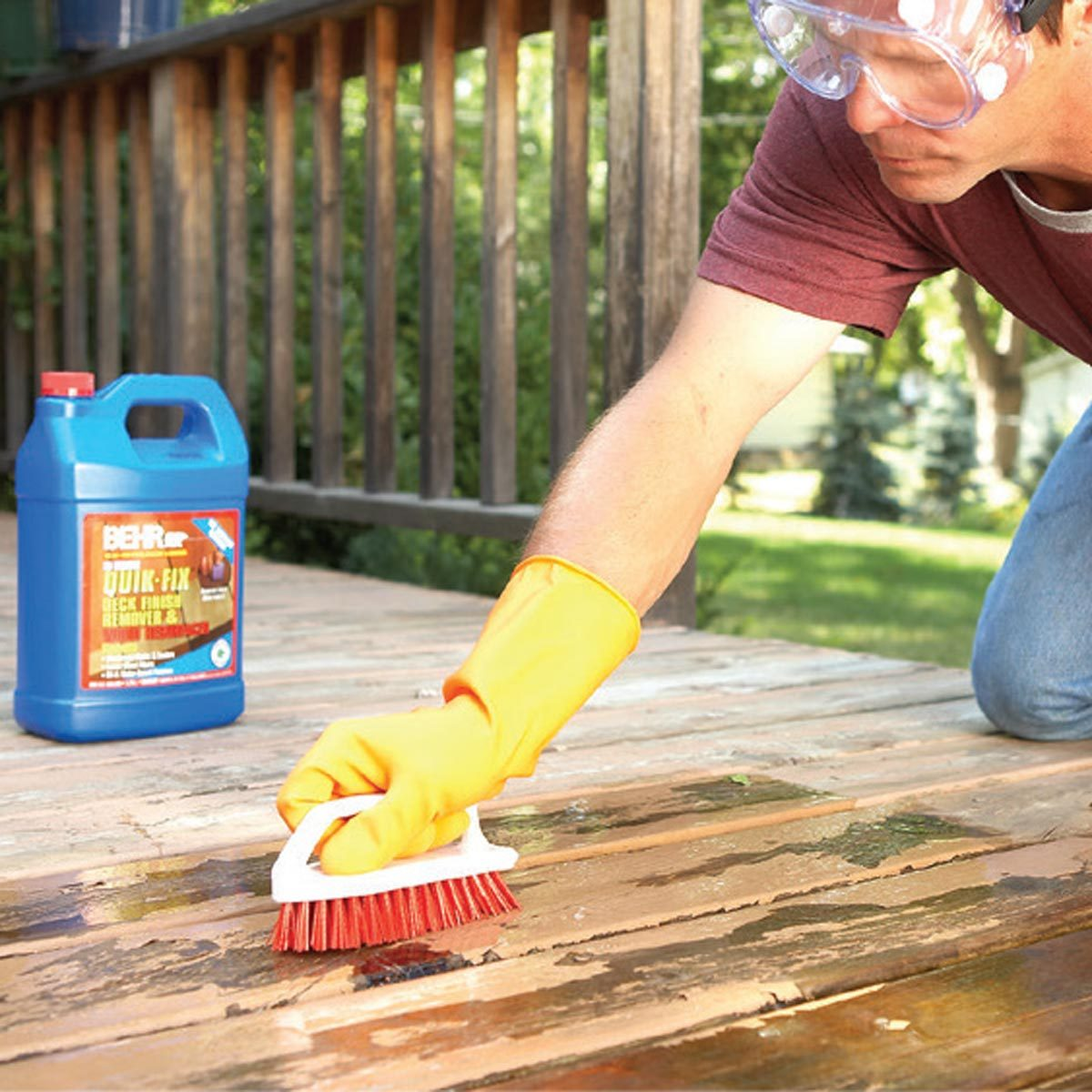 cleaning scrubbing deck for best deck finish