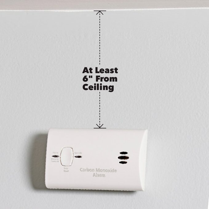 correctly installed CO detector