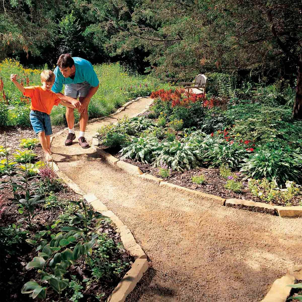 Making A Wonderful Garden Path Ideas Using Stones: 13 Before And After Backyard Makeovers You Can Do In A