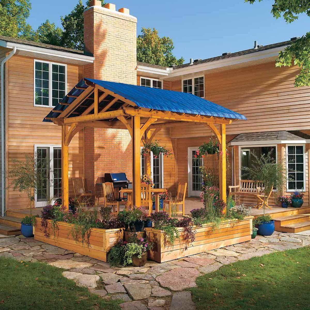 diy backyard shade