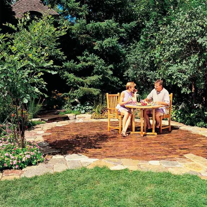 stone patio finished