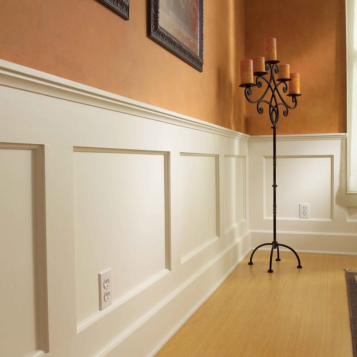 after wainscoted wall