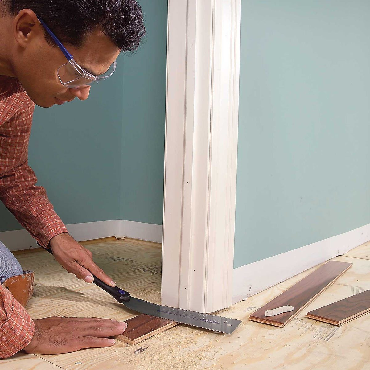 installing per finished wood flooring