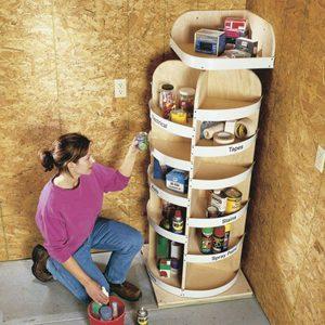 corner garage storage