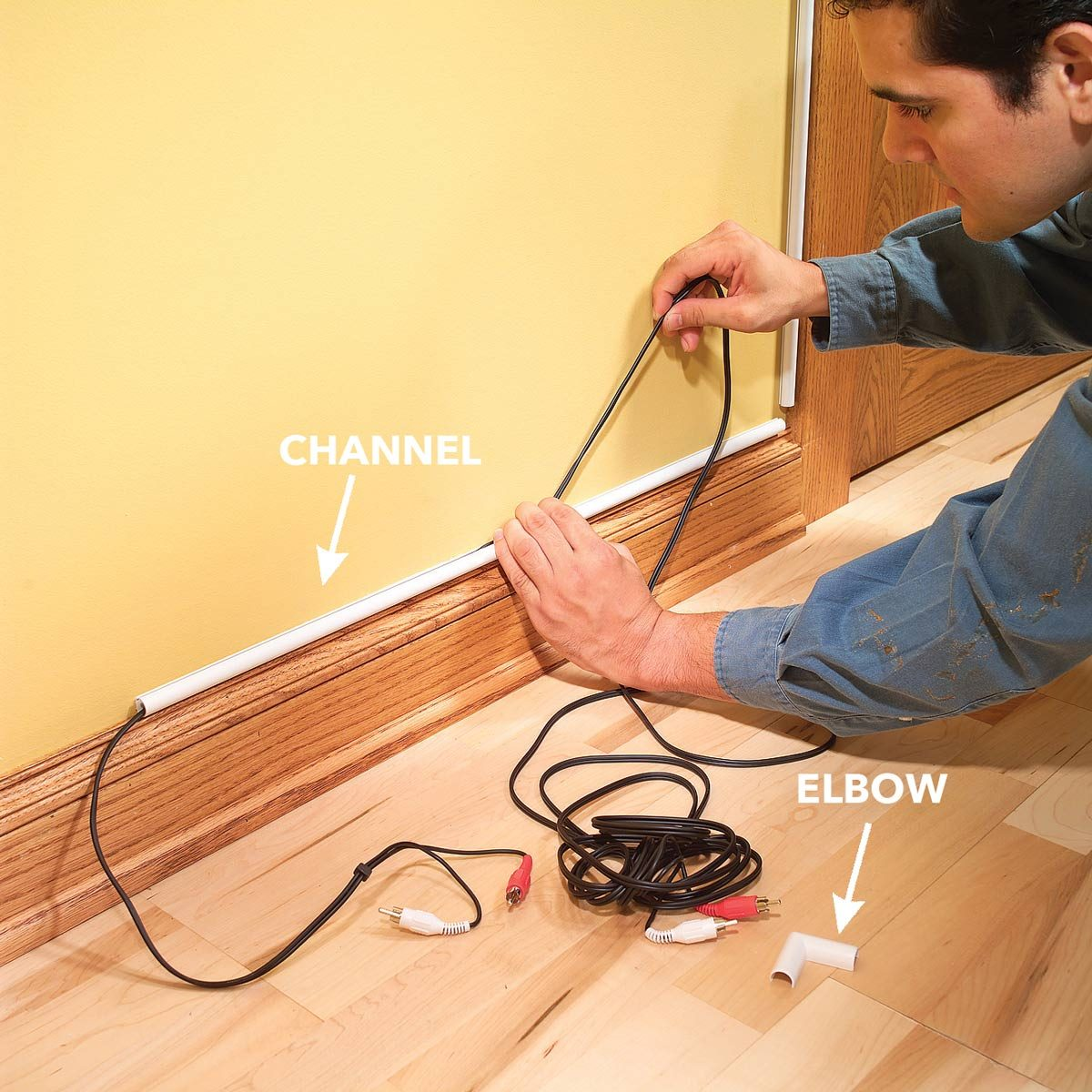 Hide Wires In A Room Without Going