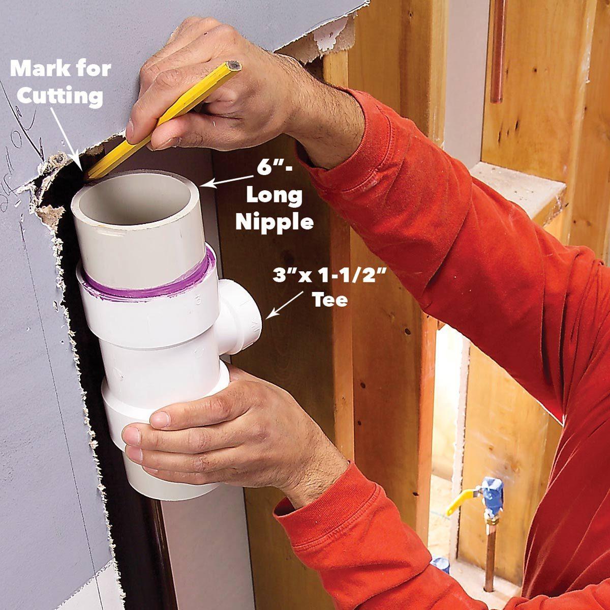install the sanitary tee