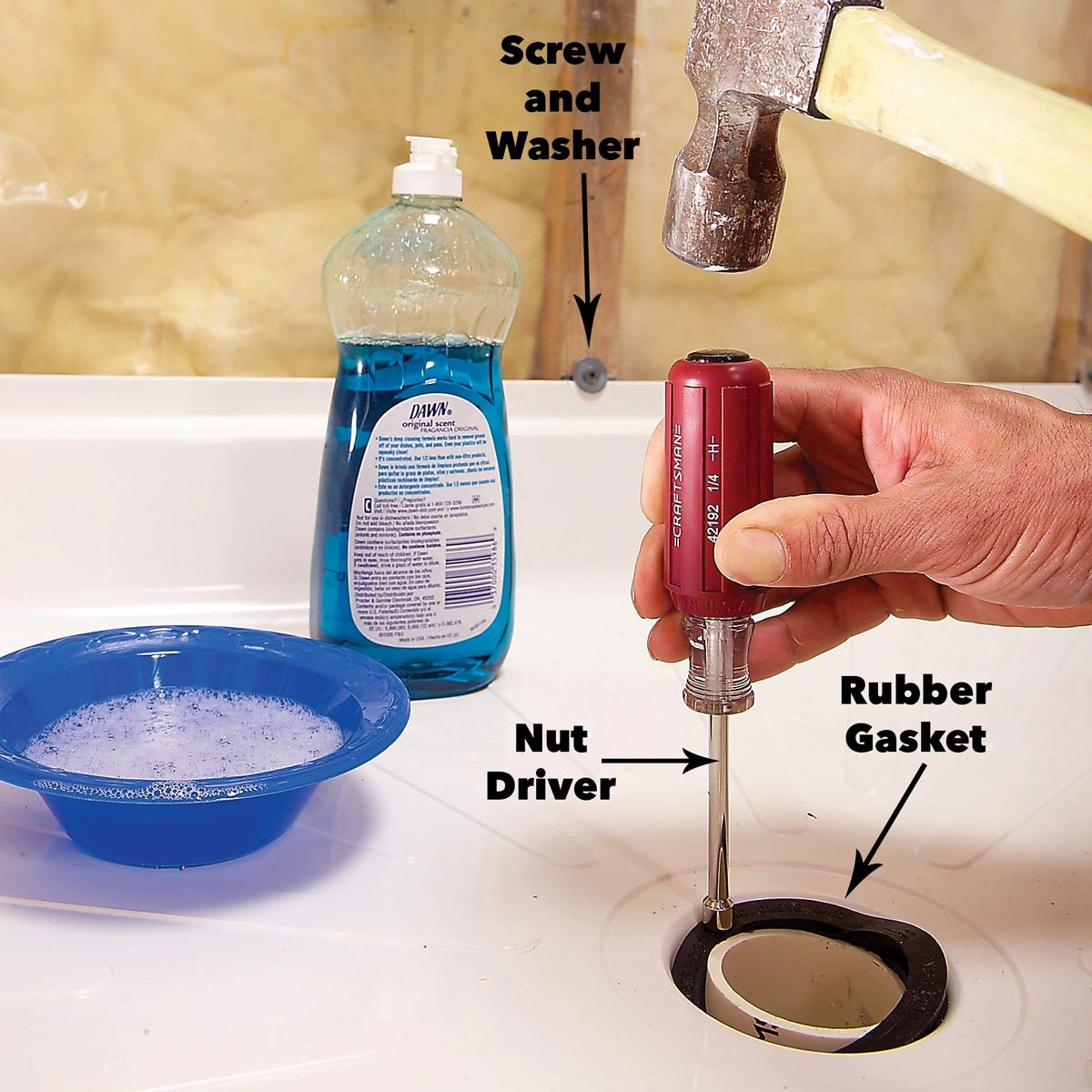shower drain hookup