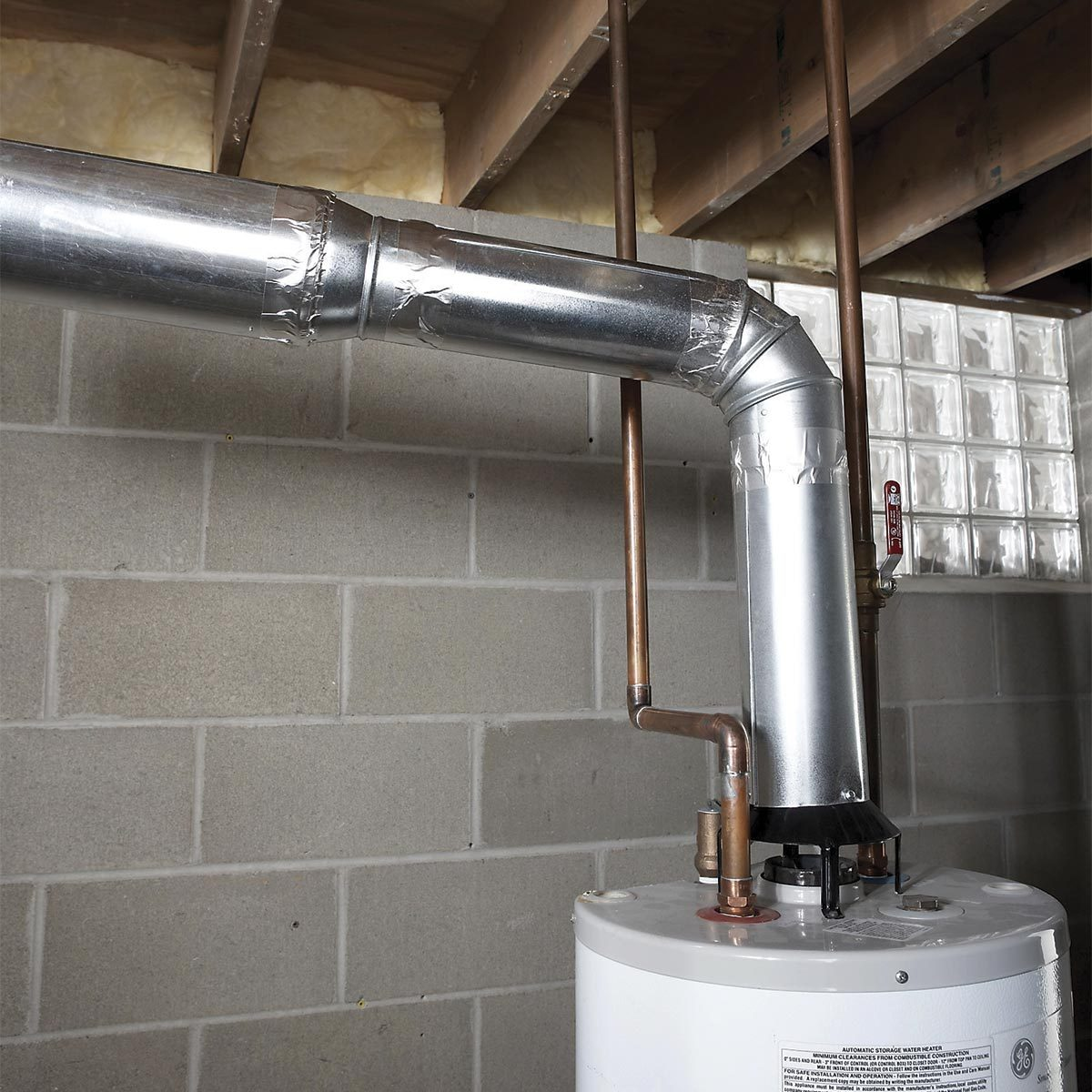 correctly installed water heater vent