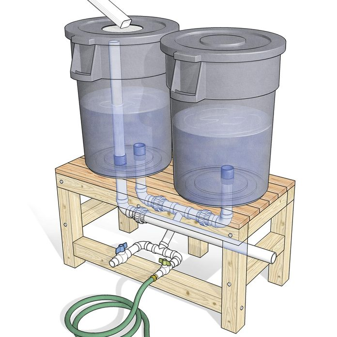 Rain water collection system