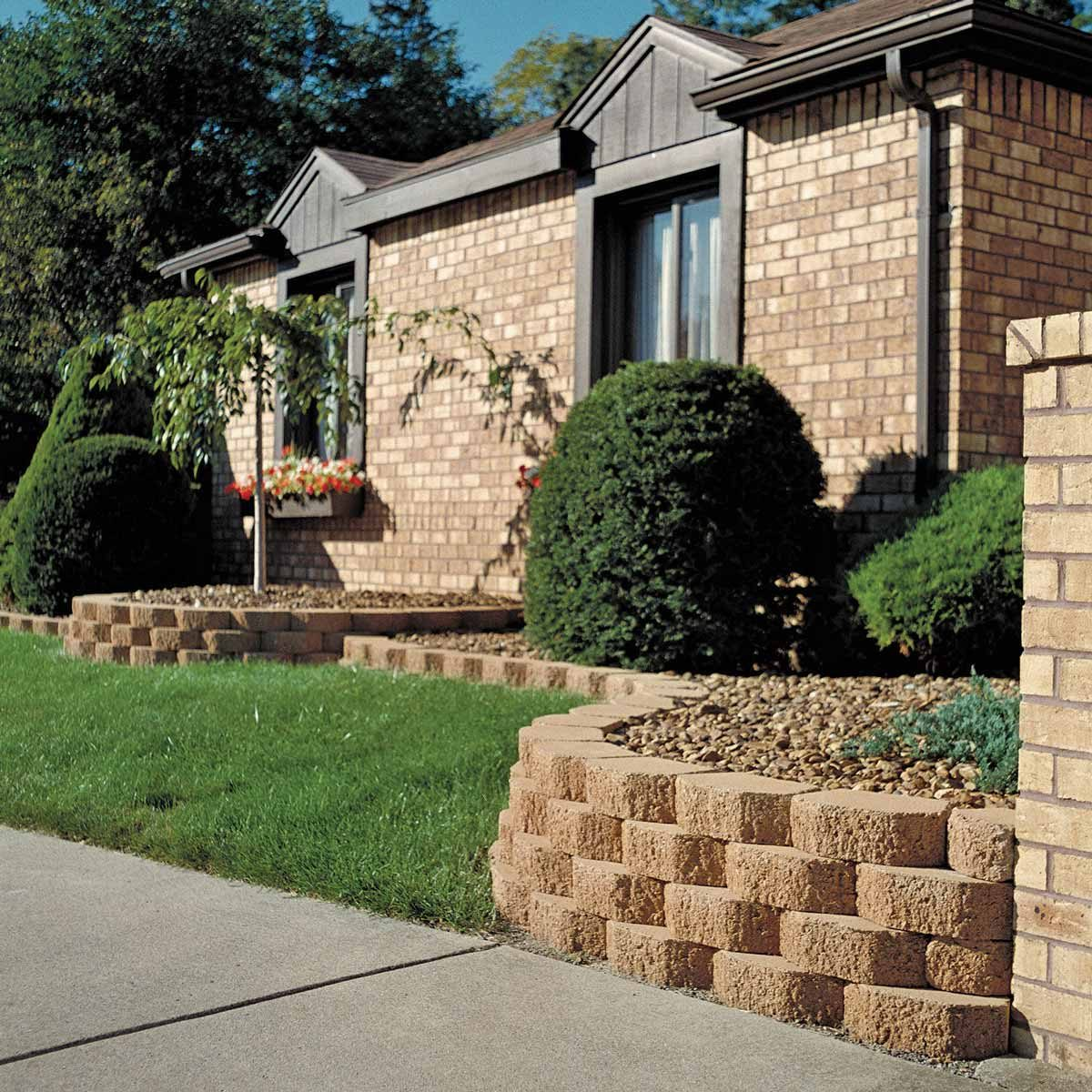split blocks retaining wall