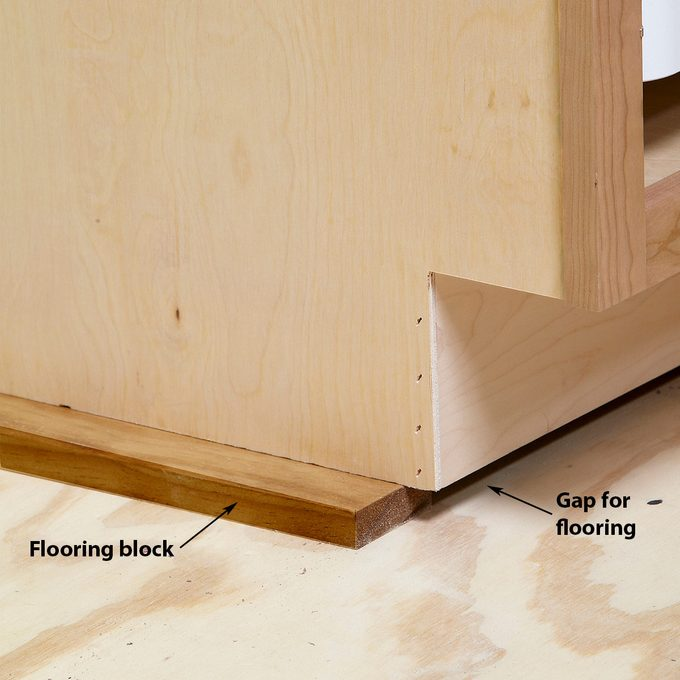 cabinets gap for flooring