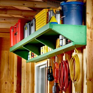 Double Decker Garage Storage Shelves