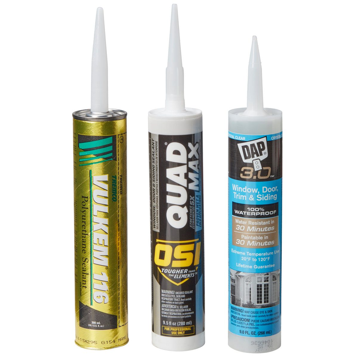 polyurethane and hybrid caulk