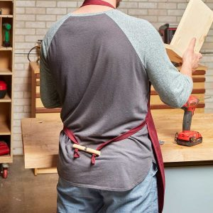 Easy-On, Easy-Off Shop Apron You Can DIY