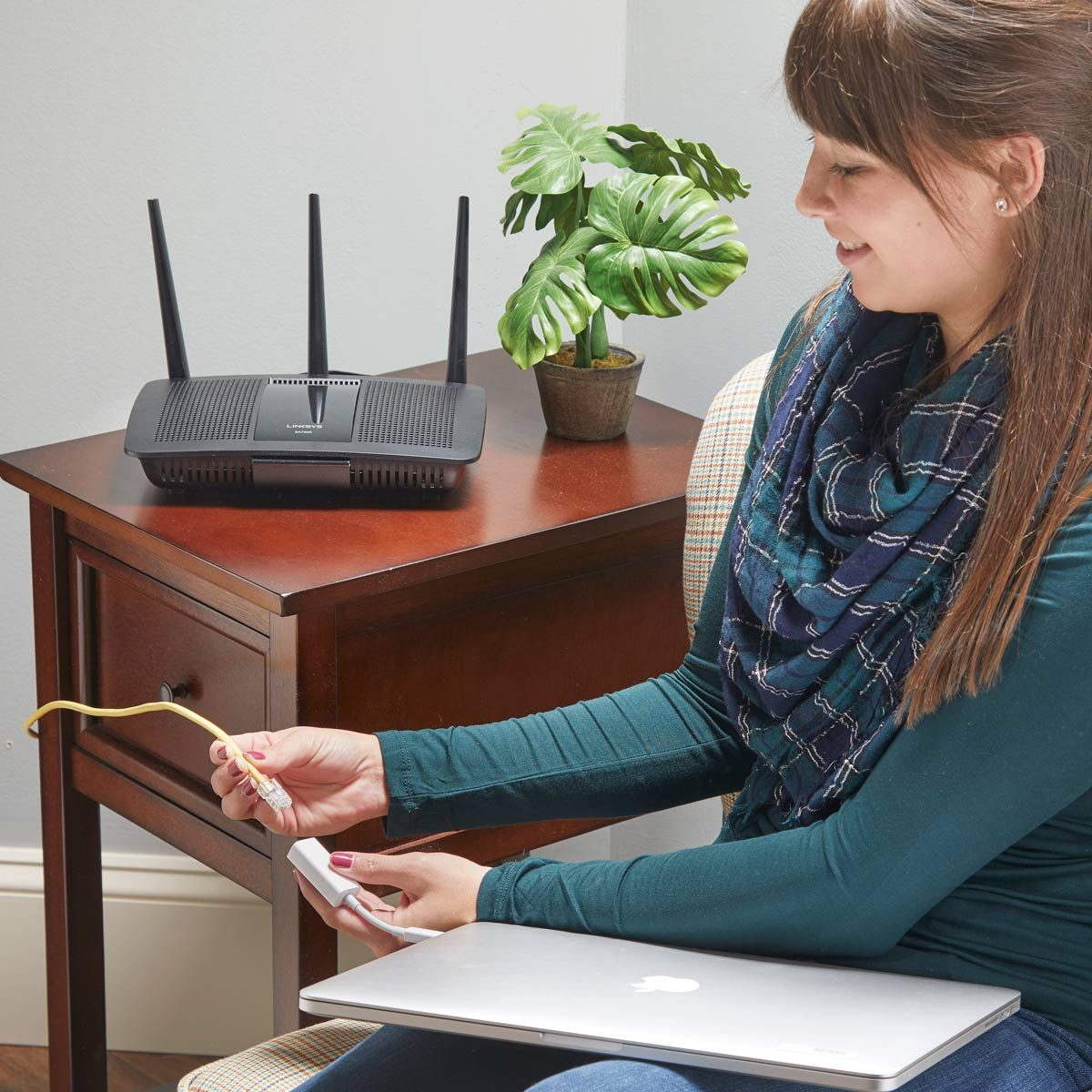 computer plug into ethernet