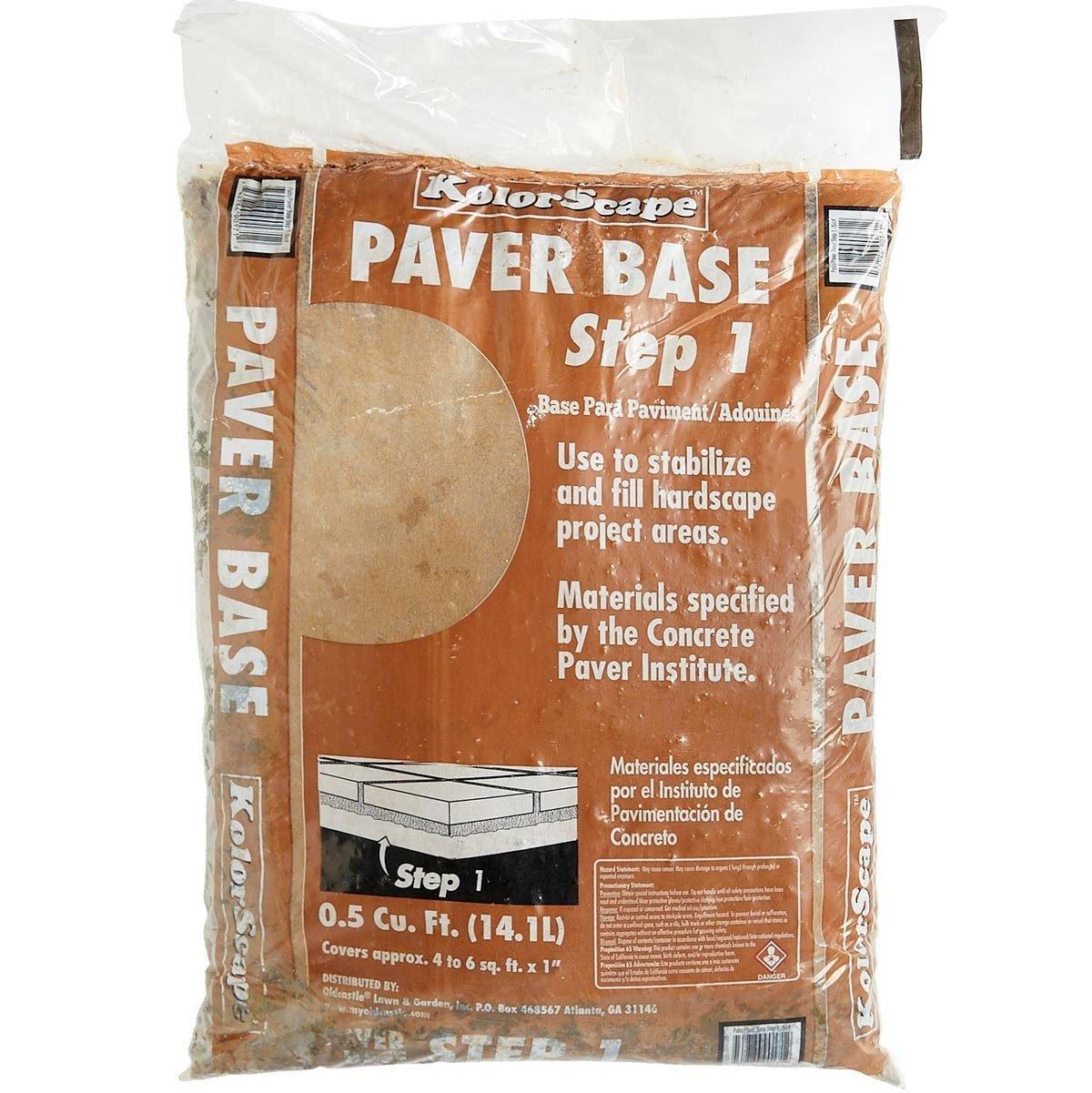bag of sand paver base